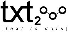 txt2dots logo